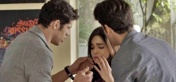 Shirlei e Felipe assumem namoro, e Adônis diz que se apaixonou (Divulgação/Globo)