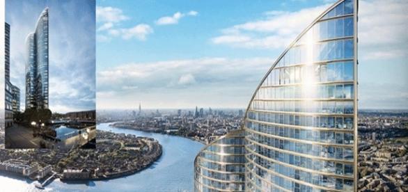 Superbe vue, mais sans doute depuis les logements les plus chers pour la Tour Spire London