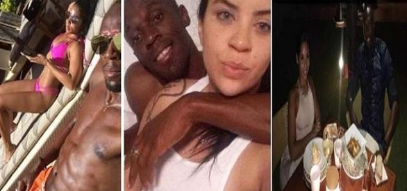 Foto montagem: Bolt, namorada e Jady.