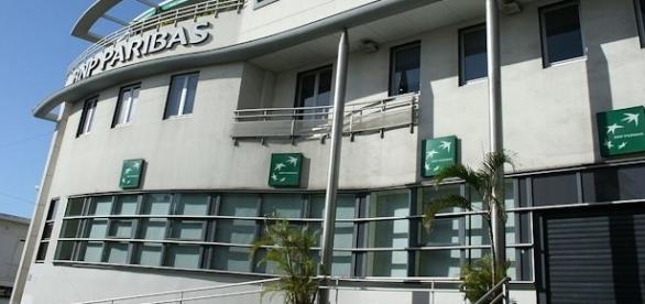 Bureaux d'une agence bancaire de BNP Paribas