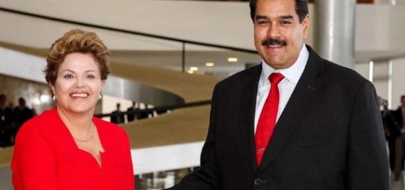 Dilma e o ditador da Venezuela, Nicolas Maduro