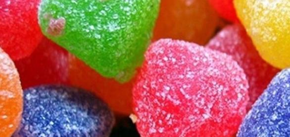 Imagens das balas de goma que parecem ser bastantes deliciosas