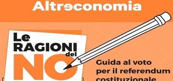 La copertina del libre sulle ragioni del non al referendum.