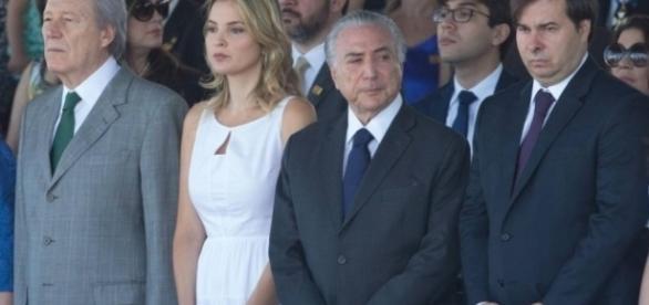 Michel e Marcela Temer no desfile de 7 de setembro em Brasília