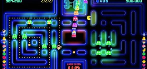 Uno de los laberintos de Pac-Man