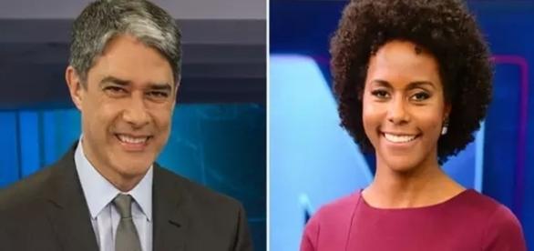 Bonner e Maria Júlia Coutinho não conversam mais tanto, no JN