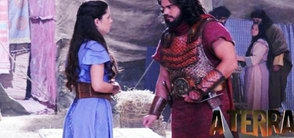 Josué e Aruna, casal principal da novela