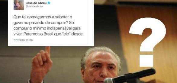 José de Abreu faz pedido polêmico