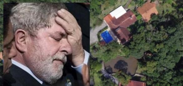 Lula e o sítio em Atibaia - Foto/Reprodução