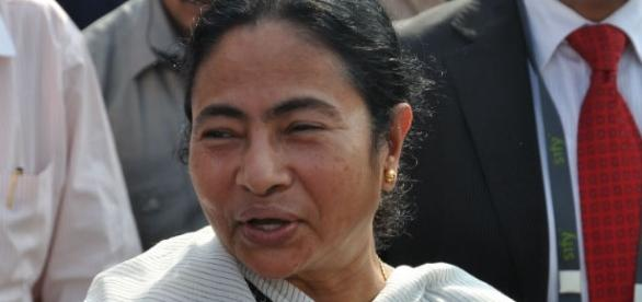 Mamata Banerjee, the chief minister of West Bengal, India / Photo via Biswarup Ganguly, Own work