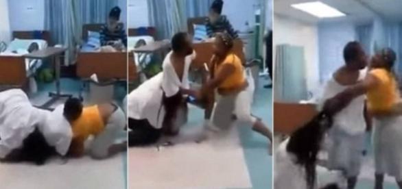 Mulheres entram em briga feia no hospital