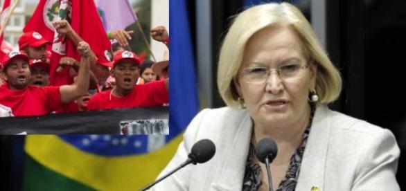 Senadora diz ser alvo de represália do MST