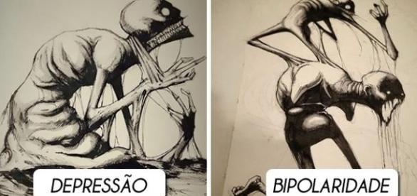As ilustrações conseguem retratar com detalhes cada característica das doenças
