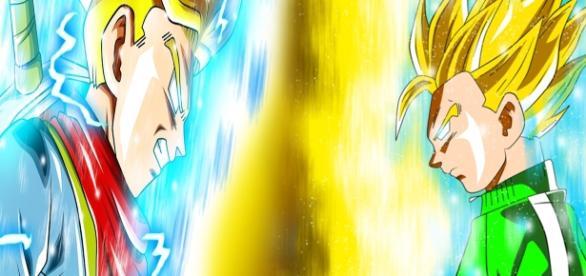 Gohan y Trunks los híbridos más fuertes