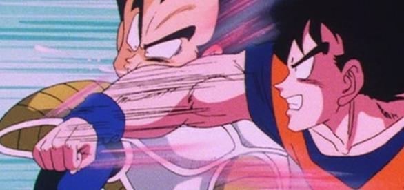 Pelea de Goku y el Saiyajin orgulloso Vegeta