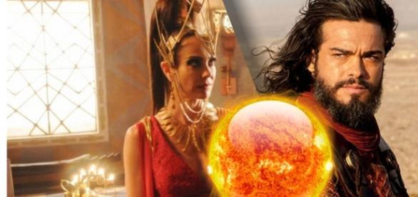 Ravena e Yussuf são enganados e a feiticeira acaba morrendo queimada