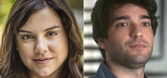 A atriz Alice Wegmann e a ator Humberto Carrão em 'A Lei do Amor'