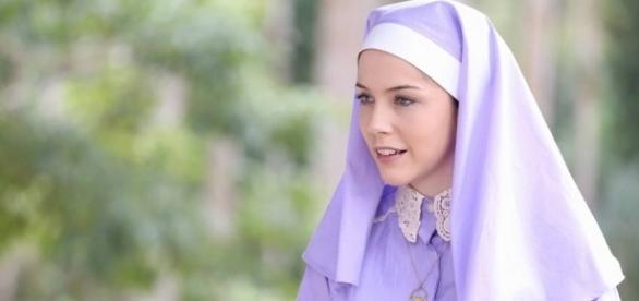 Irmã Cecília (Bia Arantes) corre risco de ser afastada (via SBT)