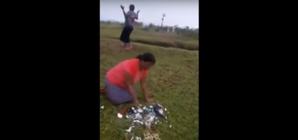 Pastora destrói imagem da padroeira do Brasil