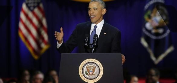 President Obama's farewell address stressed important issues/Photo via harpersbazaar.com