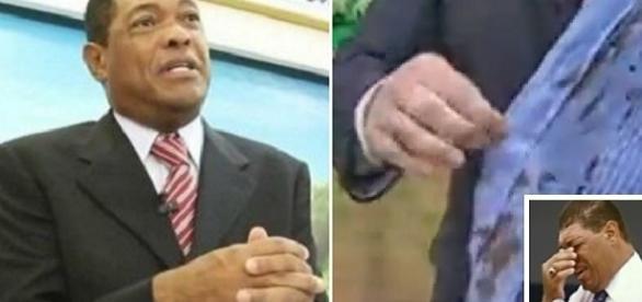 "Camisa suja de sangue do Pastor Valdemiro Santiago, ""cura"" fiel."