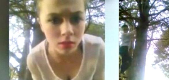 Ela se matou no quintal de sua residencia.
