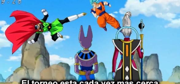 Goku y Gohan entrenan para el torneo.