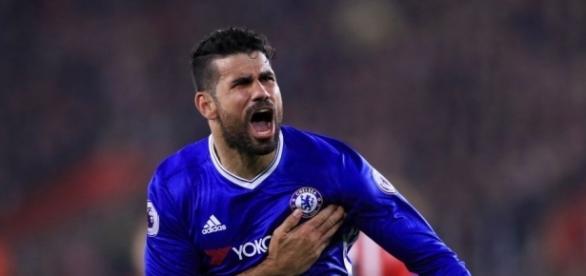 Diego Costa, atacante do Chelsea da Inglaterra