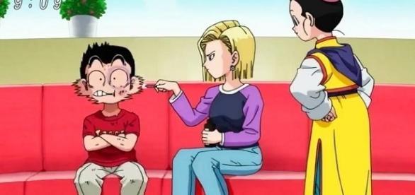 ¿Será posible que tras poco más de 70 episodios Krillin soporte los golpes de Goku?