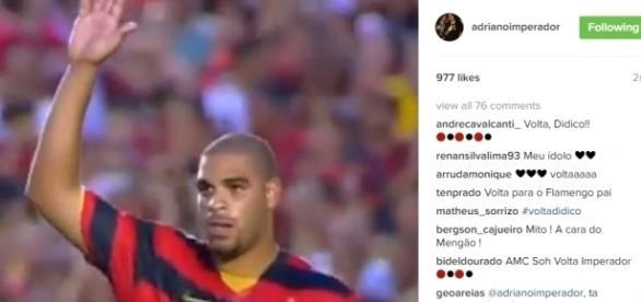 Torcedores ficaram entusiasmados com foto publicada em rede social (Fonte: Instagram/Reprodução)