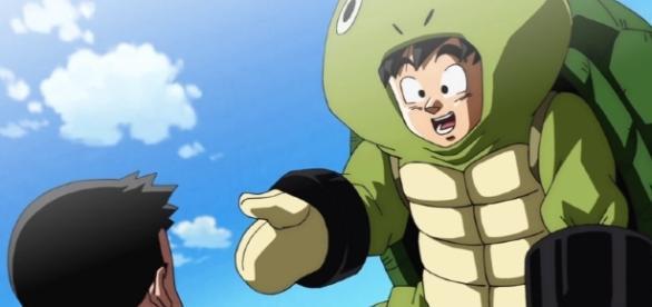 Goku entrenando con su gran amigo Krilin.