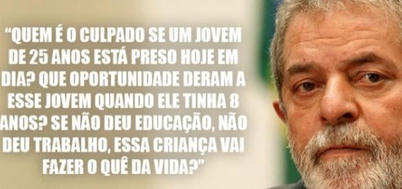 Lula comenta sobre a culpa da situação das prisões brasileiras
