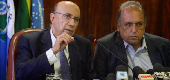 O ministro da Fazenda Henrique Meirelles e Luiz Pezão se reúnem.