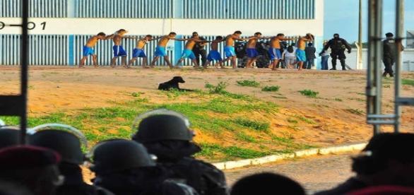 Rebelião em presídio do RN foi controlada após 14 horas com a entrada da Tropa de Choque