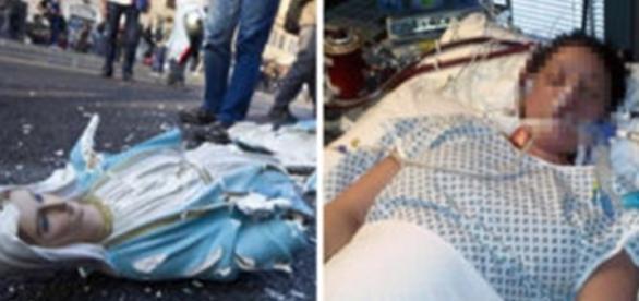 Pastora que destruiu imagem de Nossa Senhora sofre parada cardíaca (Foto: Reprodução/Google)