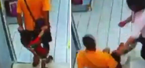 Pai mata o filho acidentalmente ao cair sobre a criança
