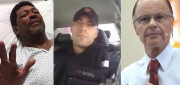 Policial ataca religiosos em vídeo