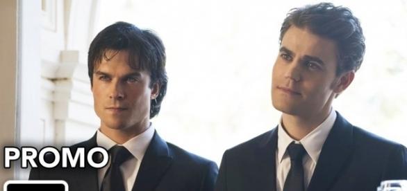 The Vampire Diaries 8x09: Damon e Stefan retornam a Mystic Falls (Foto: CW/Youtube)