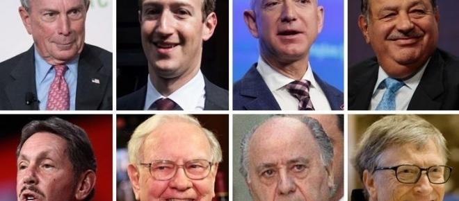 Cei mai bogați opt miliardari au o avere cât cea deținută de 50% din populația planetei
