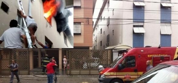 Eletrecista socorro quatro meninas de apartamento em chamas