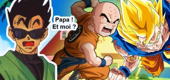 Goku et Krilin partent à l'assaut et Gohan... bah on sait pas...