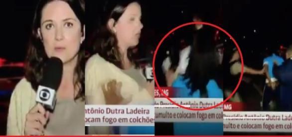 Repórter é atacada, ao vivo, na Globo News