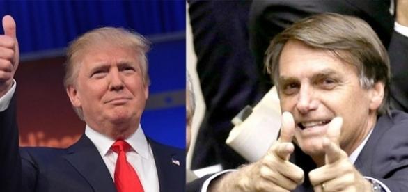 Com perfis políticos semelhantes, Trump e Bolsonaro compartilham admiradores no Brasil