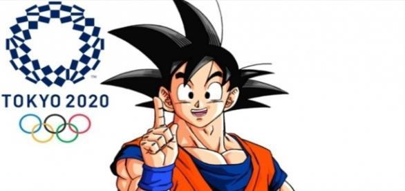 Goku, el embajador de los juegos olímpicos.
