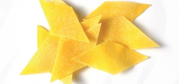 Maltagliati: pasta fresca originaria dell'Emilia Romagna.