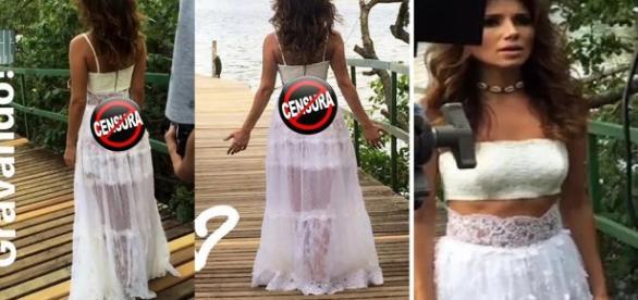 Paula Fernandes abusa de saia transparente - Google