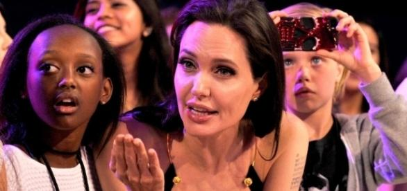 Angelina Jolie e Zahara no Kids' Choice Awards de 2015