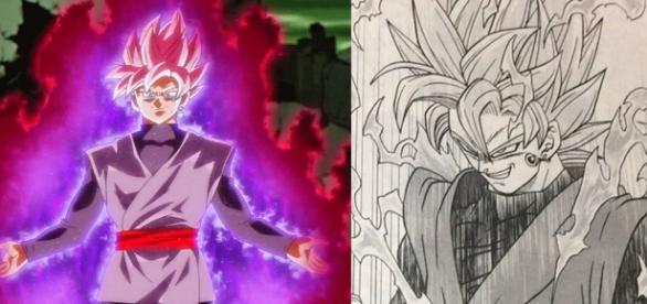 Black se convierte en Super Saiyajin Rose