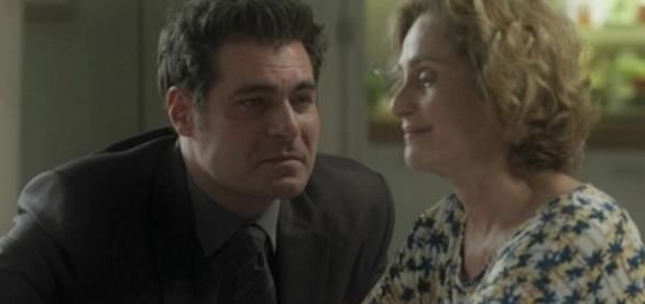 Ciro e Silvia em 'A Lei do Amor' (Divulgação/Globo)