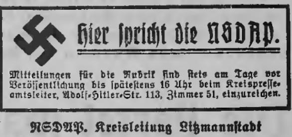 """Die Nazi-Presse im besetzten Polen: """"Litzmannstaedter Zeitung"""", 1941, public domain"""